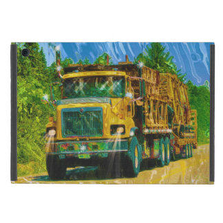Gelbe große Anlage-Fernlastfahrer Lastwagen u. iPad Mini Schutzhüllen