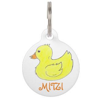 Gelbe Gummiente Duckie Ducky Haustiermarke