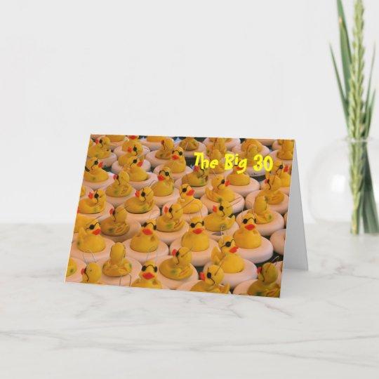 Gelbe Karte Lustig.Gelbe Gummienten Lustige 30 Geburtstags Karte Karte