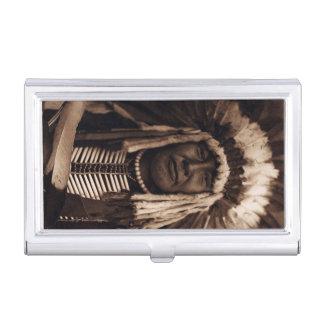 Gelbe hauptsächlicheuleVintager Blackfoot Edward Visitenkarten-Dose