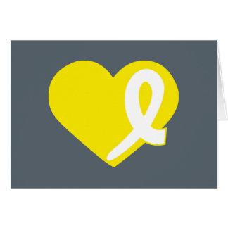 Gelbe Herz-Blasen-Krebskarte Karte