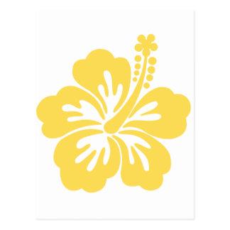 gelbe Hibiskus-Blume 11 Postkarte