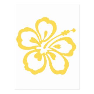 gelbe Hibiskus-Blume 12 Postkarte