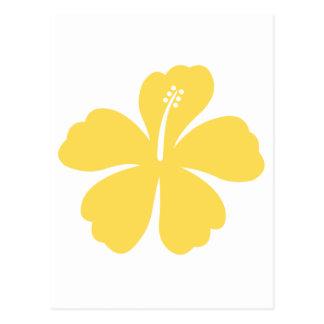 gelbe Hibiskus-Blume 19 Postkarte