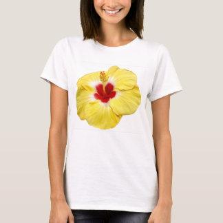 Gelbe Hibiskus-Blume T-Shirt