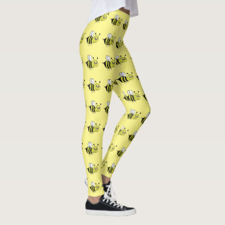 Gelbe Honig-Bienen-Gamaschen Leggings