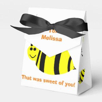 Gelbe Hummel-Bienen-Baby-Dusche danken Ihnen zu Geschenkschachtel