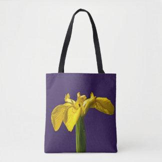 Gelbe Iris Tasche