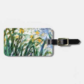 Gelbe Iris und Malva 19 Claude Monets Gepäckanhänger