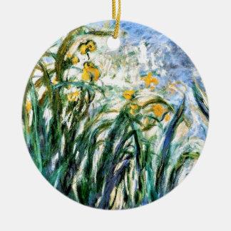 Gelbe Iris und Malva 19 Claude Monets Keramik Ornament