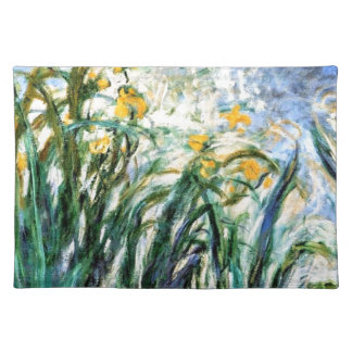 Gelbe Iris und Malva 19 Claude Monets Stofftischset