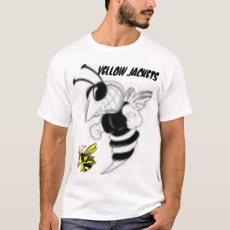 Gelbe Jacken… bereiten vor sich gestochen zu T-Shirt