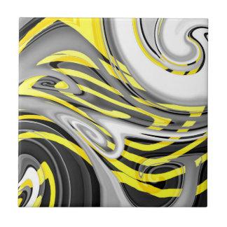 Gelbe Jacken-Strudel (AOM Entwurf) Keramikfliese