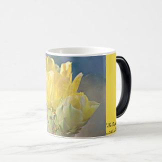 Gelbe Kaktus-Rosen-klassische Kaffee-Tasse Verwandlungstasse