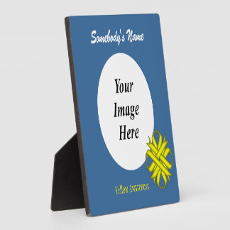 Gelbe Klee-Band-Schablone Fotoplatte