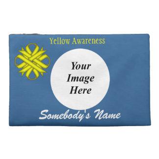 Gelbe Klee-Band-Schablone Reisekulturtasche