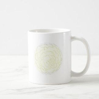 Gelbe Kohl-Rose Kaffeetasse