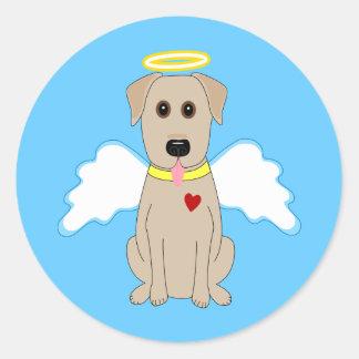 Gelbe Labrador retriever-Engels-Aufkleber Runder Aufkleber