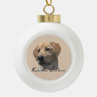 Gelbe Labrador retriever-Kunst-Geschenke Keramik Kugel-Ornament