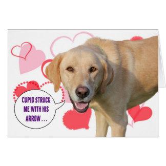 Gelbe Labrador retriever-Valentinstag-Karte Karte
