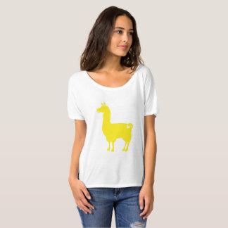 Gelbe Lama-Damen-Slouchy T - Shirt
