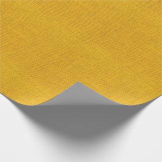 Gelbe Leinwand-Beschaffenheit Geschenkpapier