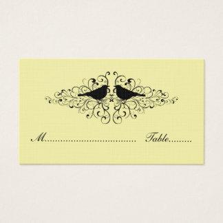 Gelbe Liebe-Vogel-Wirbels-Platzkarte Visitenkarte