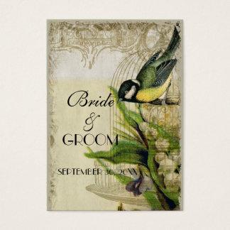 Gelbe Lied-Vogelkäfig-Geschenkladen-Einsatz-Karten Visitenkarte