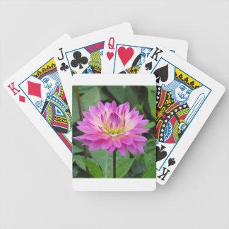 Gelbe lila Dahlie Bicycle Spielkarten