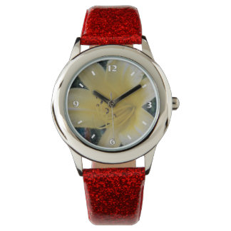 gelbe Lilie Armbanduhr
