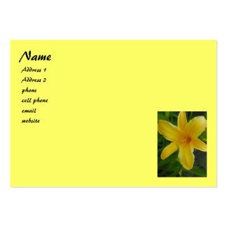 gelbe Lilie Jumbo-Visitenkarten