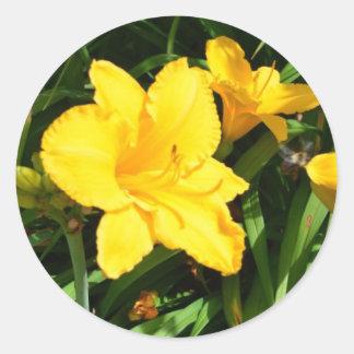 Gelbe Lilien Stickers