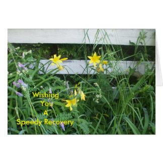 Gelbe Lilien Grußkarte