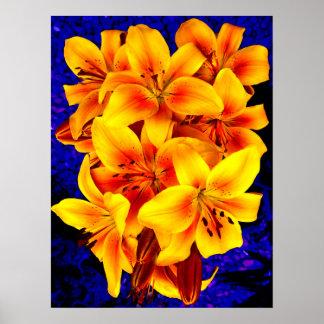 gelbe Lilien Posterdruck
