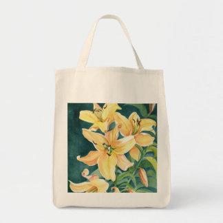 Gelbe Lilien Einkaufstaschen