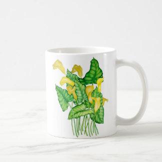 Gelbe Lilien Kaffee Haferl