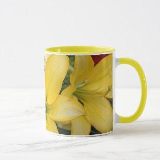 gelbe Lilienen-Tasse Tasse