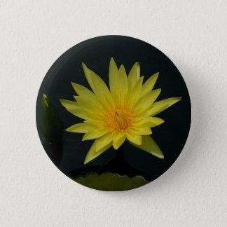 Gelbe Lotos-Wasserlilie Runder Button 5,7 Cm