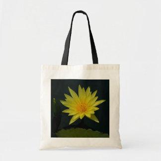 Gelbe Lotos-Wasserlilie Tragetasche