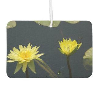 Gelbe Lotos-Wasserlilien Autolufterfrischer