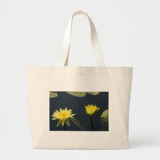 Gelbe Lotos-Wasserlilien Jumbo Stoffbeutel