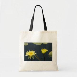 Gelbe Lotos-Wasserlilien Tragetasche