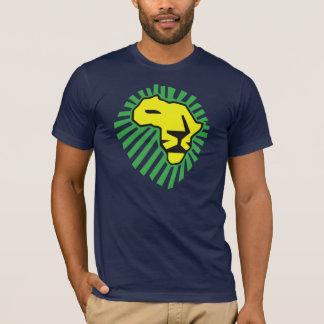 Gelbe Löwe-Grün-Mähne dieses mal für Afrika-Shirt T-Shirt