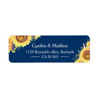 Gelbe Marine-Blau-Sonnenblume-rustikales