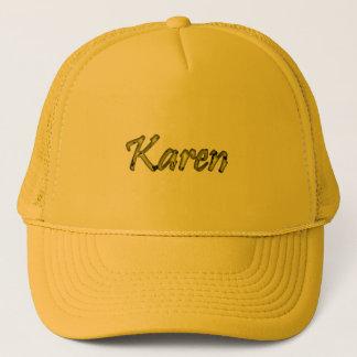 gelbe Maschenkappe Karen Truckerkappe