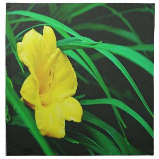 Gelbe Michigan-Blumen Serviette