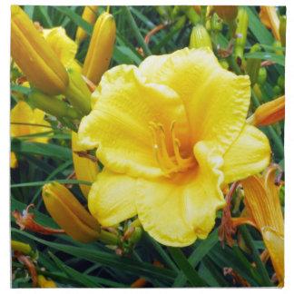Gelbe Michigan-Blumen Stoffserviette