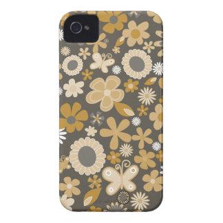 Gelbe MischBlumen iPhone 4 Hüllen