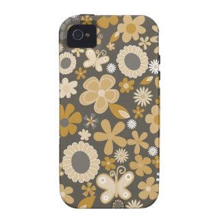 Gelbe MischBlumen iPhone 4 Cover