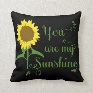Gelbe mit Blumensonnenblume sind Sie mein Kissen